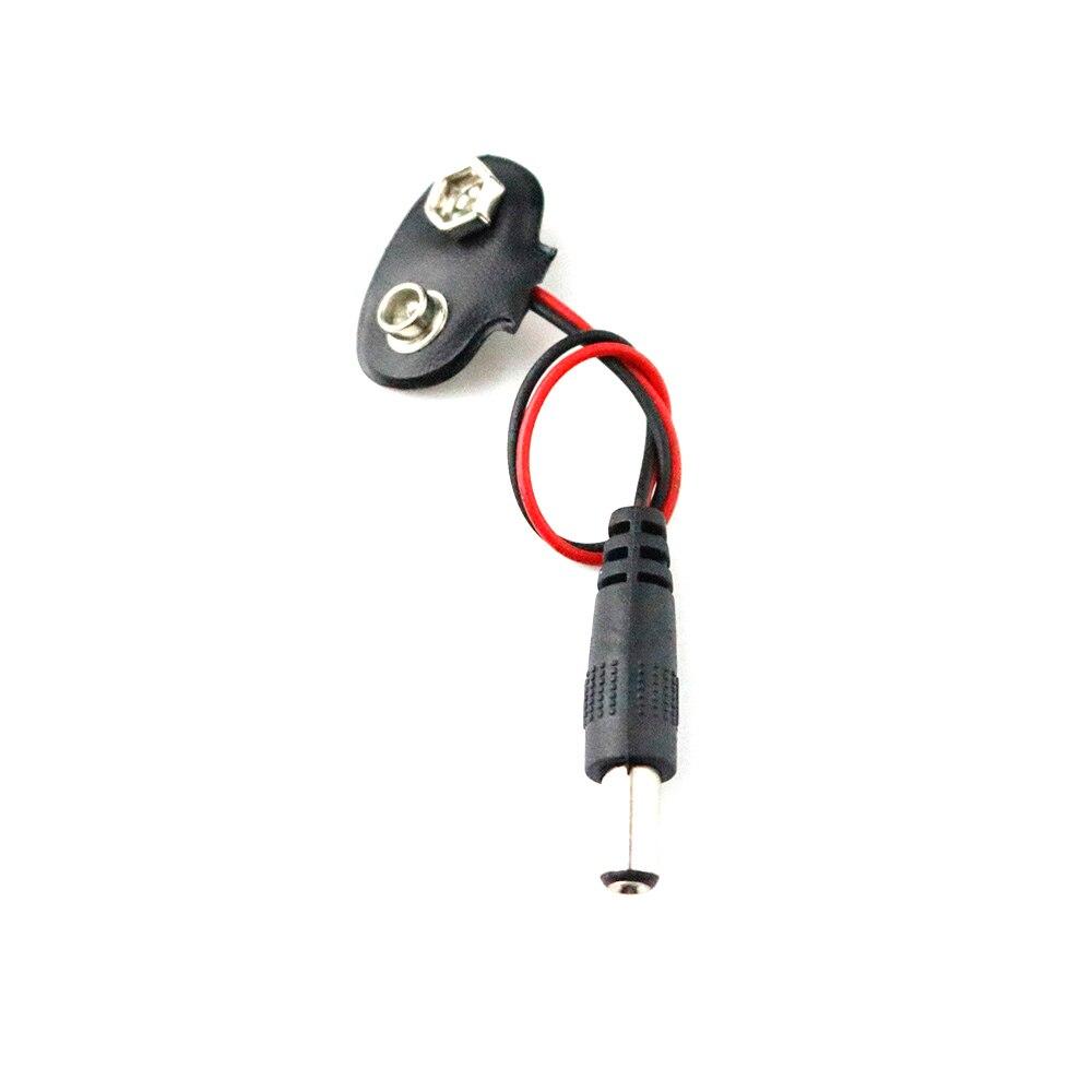 5 шт. DC 9 В батарея кнопка кабель питания батарея Пряжка защелки кабель питания разъем DC для Arduino Uno R3 Сделай Сам домкрат разъем