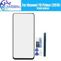 Dla Huawei Y9 Prime (2019) ekran szyby obiektywu 100% oryginalny przedni ekran dotykowy szkło zewnętrzna obiektywu dla Y9 Prime (2019) telefon w Ekrany LCD do tel. komórkowych od Telefony komórkowe i telekomunikacja na