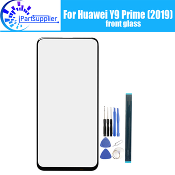 For Huawei Y9 Prime (2019) Front Glass Screen Lens 100% Original Front Touch Screen Glass Outer Lens for Y9 Prime(2019) Phone