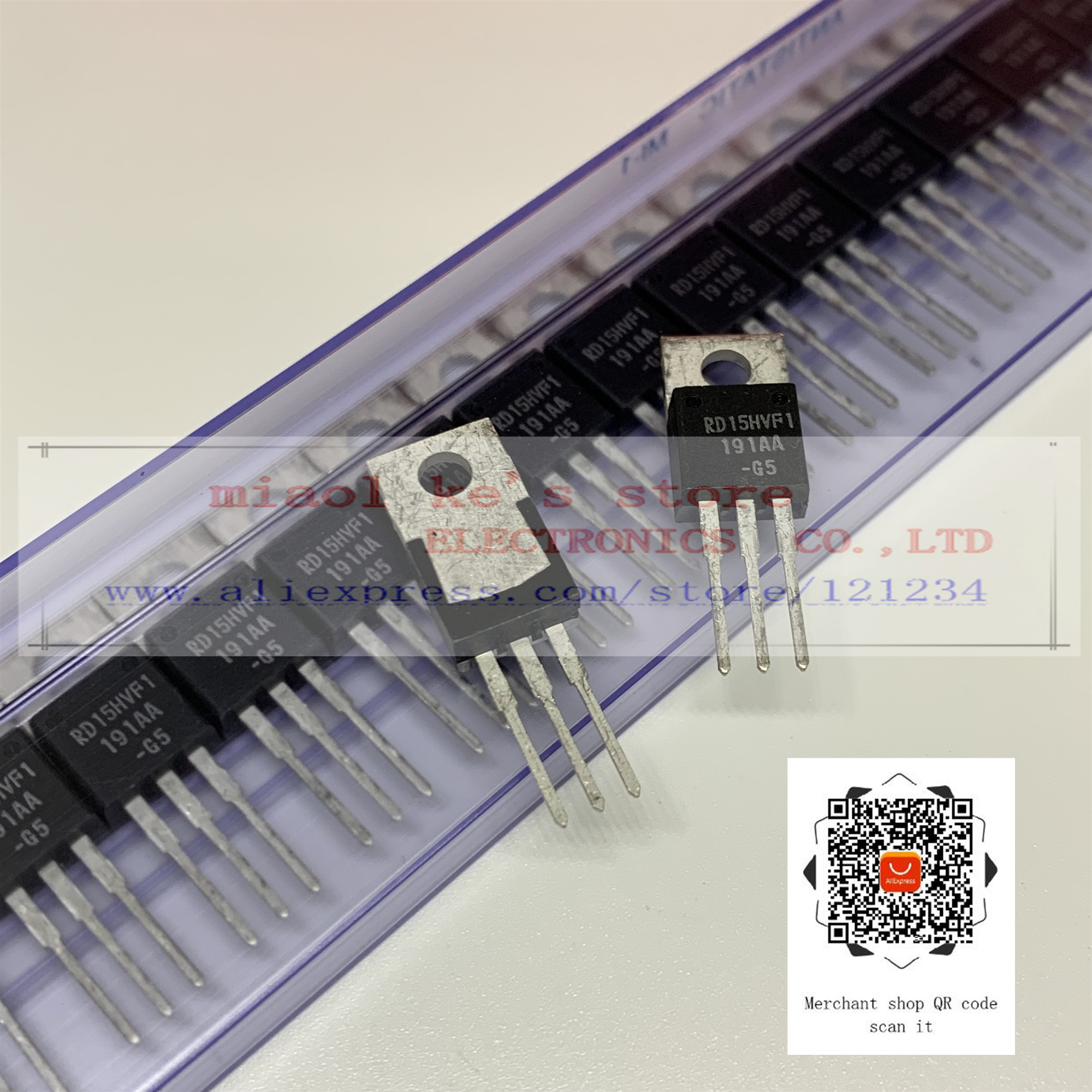 [ 5pcs - 10pcs]100%New Original; RD15HVF1 RD15HVF1-101 [ 175MHz 520MHz, 5W Replaced 2SC1972 ] High Quality Stock