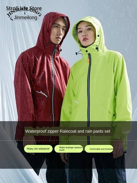 Women Raincoat Rain Pants Suit Set Split Adult Waterproof Suit Electric Motorcycle Rain Coat Poncho Coat Male Rainwear Gift