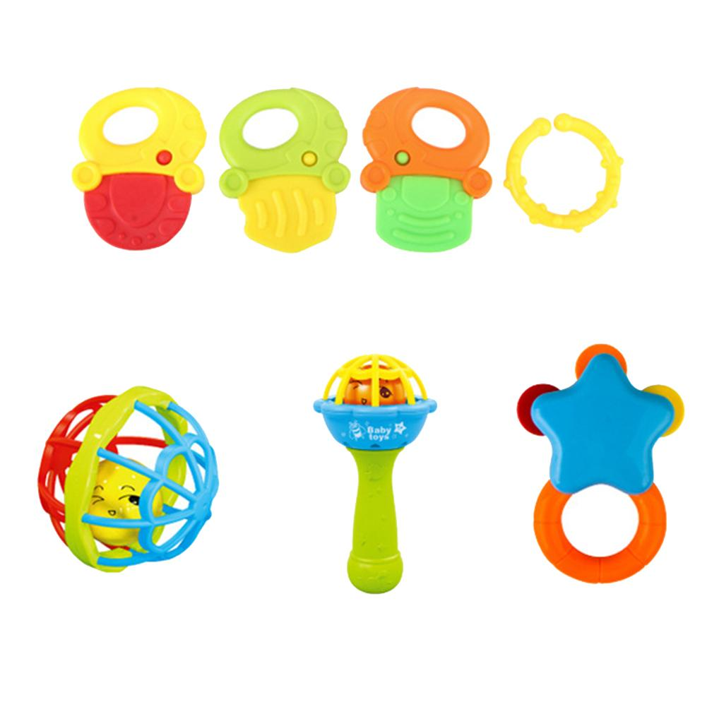 7/8/10Pcs Baby Rattles Toys Teether Shakers Newborn Toddler Hand Grip Bells New