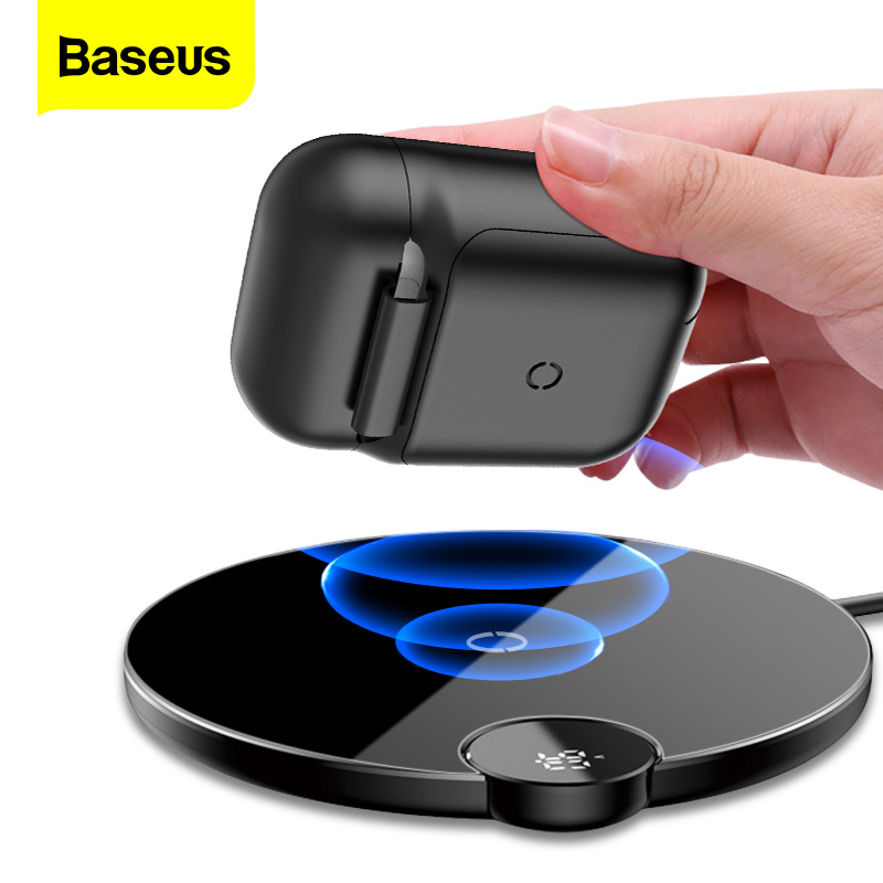 Baseus Wireless Charging Case For Airpods Bluetooth Earphone Luxury Silicone Case Cover For Apple AirPods 2 Funda Box Coque