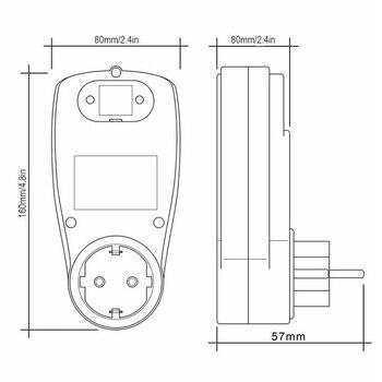 1 Adet 230V Dijital Wattmetre LCD Enerji Ölçer Watt Elektrik Kwh Güç Ölçer Ölçme Ölçüm Çıkış Güç Analizörü