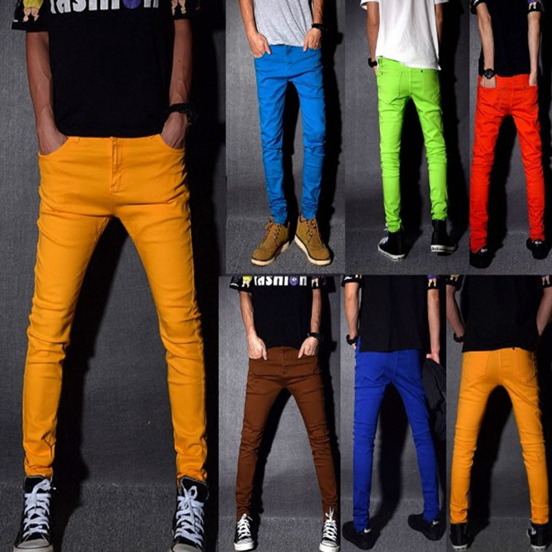 2019 Candy Light Pants Elastic Youth Jeans Slim Jeans F001
