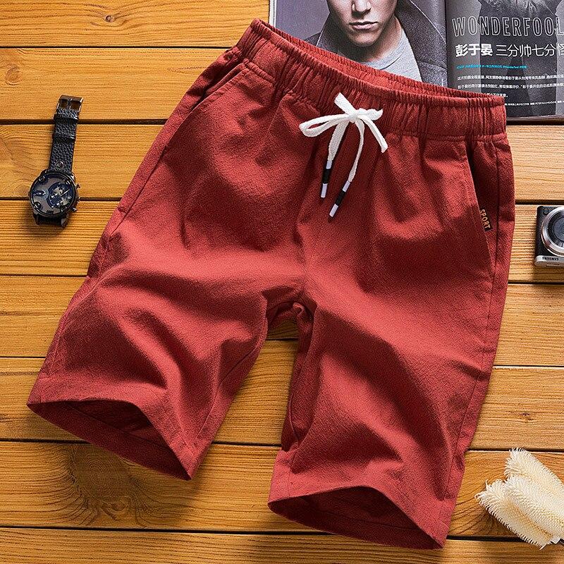 2019 Summer Men Cotton Casual Flax Short Shorts Cotton Linen Beach Casual Pants Shorts Fashion Shorts