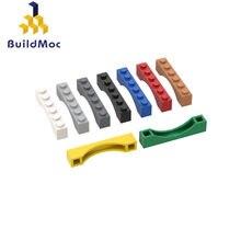 BuildMOC 3455 1X6 kemerli tuğla yapı taşları parçaları DIY inşaat yaratıcı hediye oyuncaklar
