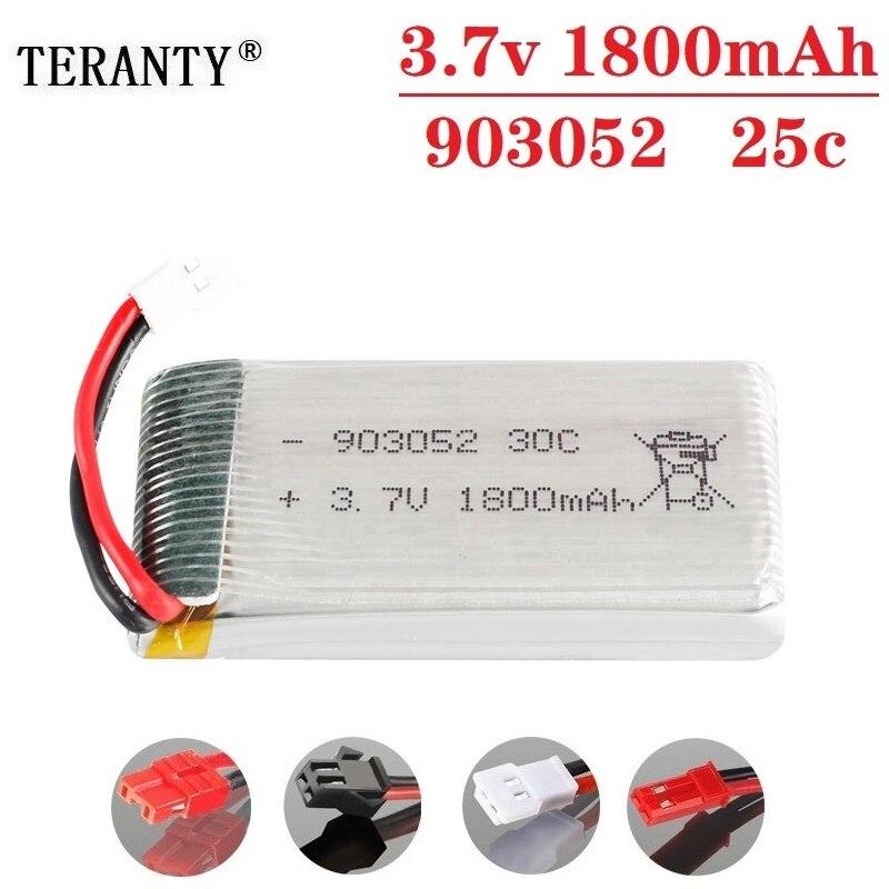 3.7v Recarregável 1800mAh Bateria para SYMA X5 X5S X5C X5SC X5SH X5SW X5HW X5UW M18 H5P HQ898 H11D H11C KY601S 3.7v bateria lipo