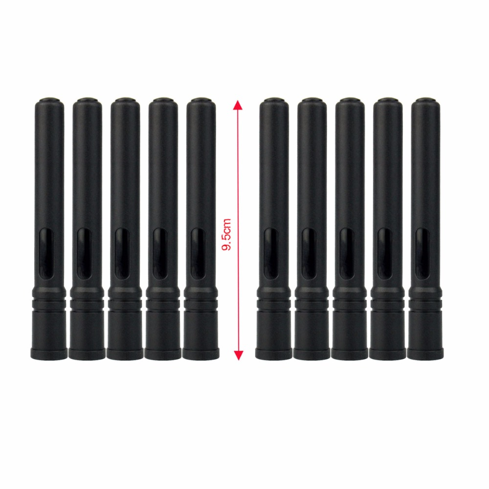 10pcs Antenna UHF 400-480 MHz 10W High Gain 2.15dBi SMA-M Plugs For Retevis RT3/TYT MD-380 Two Way Radio J9110D
