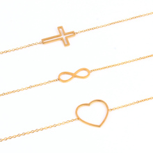Stainless Steel Bracelets for women Charms Chain Link Infinity Bracelets Bangles For