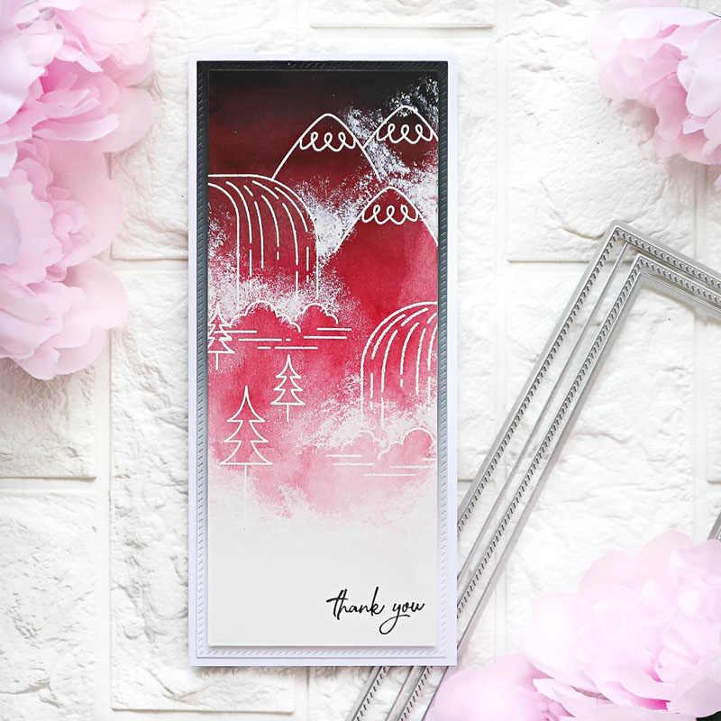 Przekątna Slimcuts stitched prostokąty wykrojniki szablony metalowe dla DIY karty papierowe do scrapbookingu rzemiosło artystyczne nowy 2020 Die