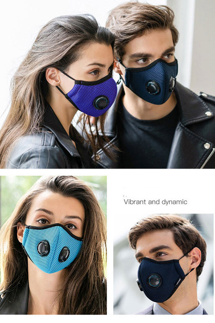 Activated Carbon Dustproof Mask, Anti Haze Air Filter Mouth Face Mask Anti Pollution Pollen Allergy Flu PM2.5 KN95 Dust Mask 1