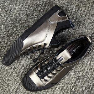 Мужские повседневные кожаные кроссовки, лоферы для вождения, на плоской подошве, черного цвета, модель 553