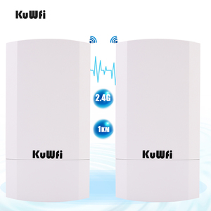Image 2 - Kuwfi Router 1Km 300Mbps Draadloze Router Outdoor & Indoor Cpe Router Kit Wireless Bridge Wifi Repeater Ondersteuning Wds long Range