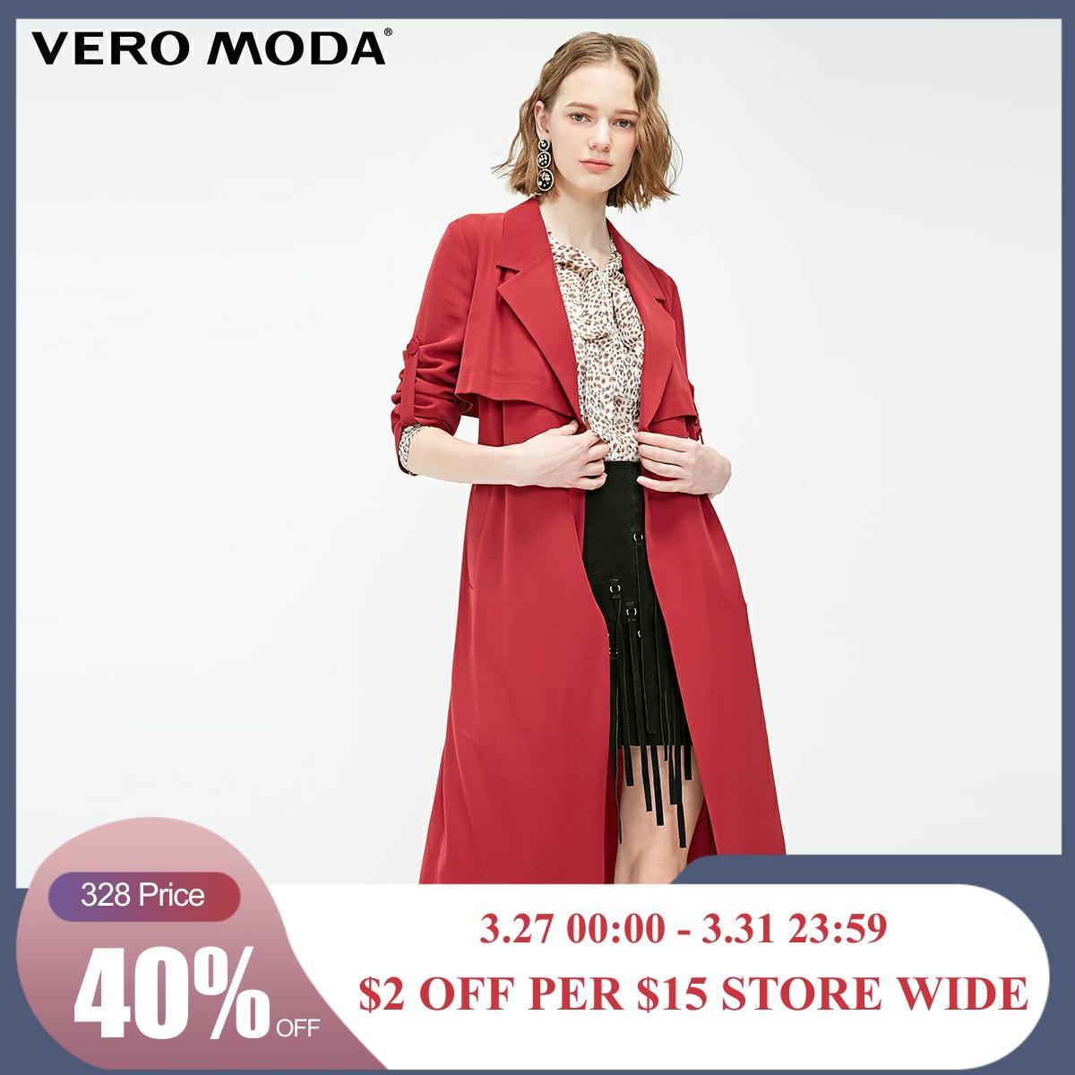 Vero Moda Women's OL Style Minimalist Draped Trench Coat | 319121509