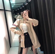 In The Early Autumn of 2019 Womens Khaki Shirt Long Sleeve Loose Women Turn-down Collar Blouse