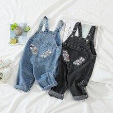 Jumpsuits Overalls Korean Trousers Suspender-Pants Baby Children's Denim Spring Boys