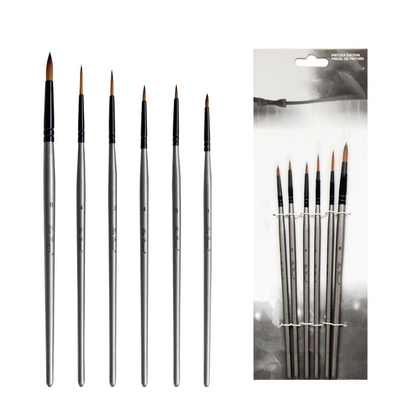 6Pcs Art Marker Nylon Marker Sketch Pen Painting Supplies Oil Painting Pens Paint Brush Multipurpose Artistic Accessories