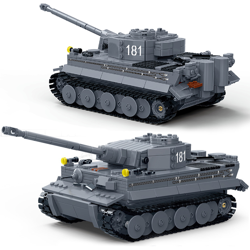 New Compatible Legoes Military Ww2 German King Tiger Tank Truck World War Army Soldiers Building Blocks Toys For Children