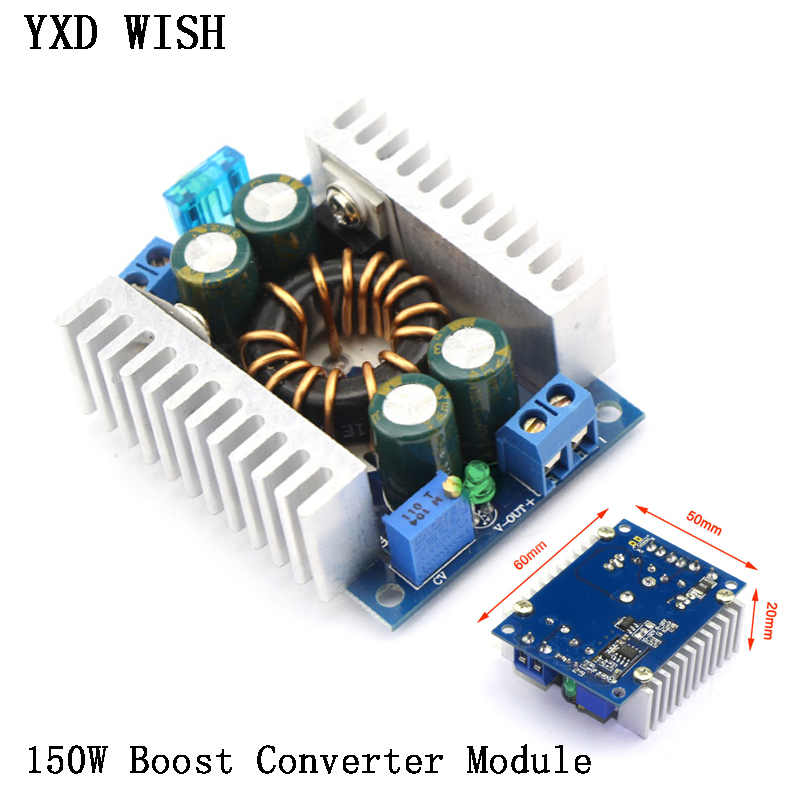 150W DC DC Boost Converter Power <font><b>Transformer</b></font> Module 8-<font><b>32V</b></font> to 9-46V DC-DC Step-Up Volt Inverter Controller Stabilizer For Car Aut image
