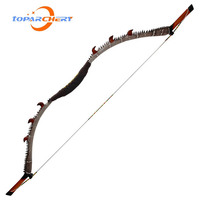 35 55LBS Traditional One Piece Recurve Bow Wooden Handle Fiberglass Bow Limbs Right Hand Outdoor Sports Shooting