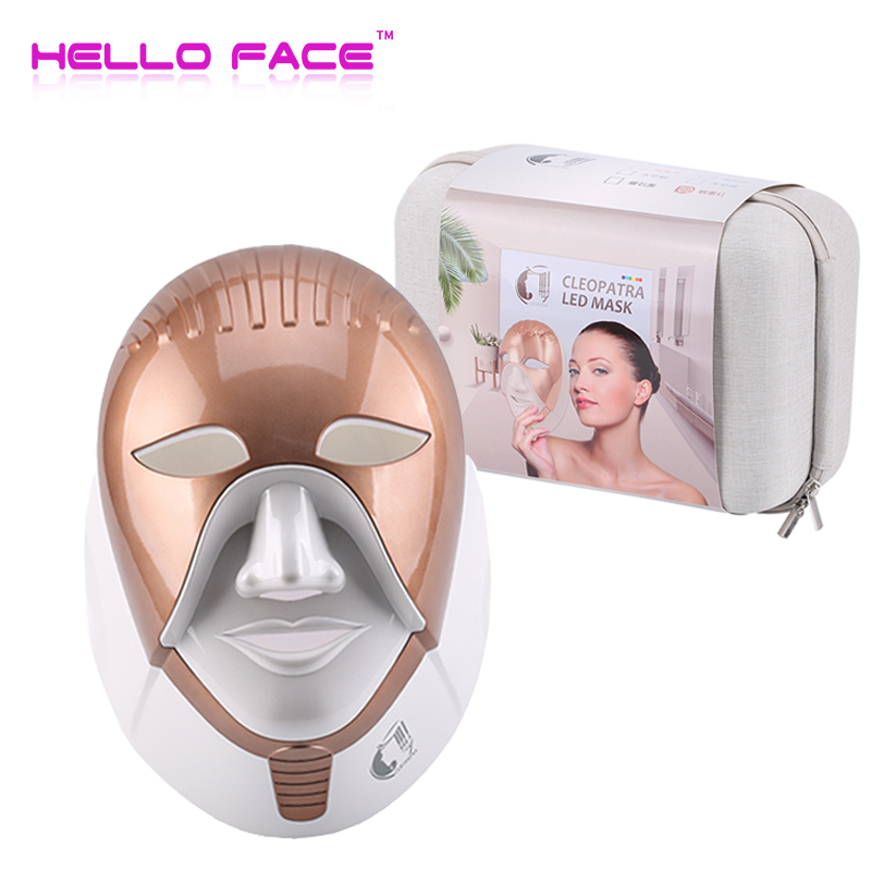 7 Colors Led Facial Mask Photon Therapy With Neck Home Use Skin Rejuvenation Mask Led Red Light Therapy Face Beauty Machine