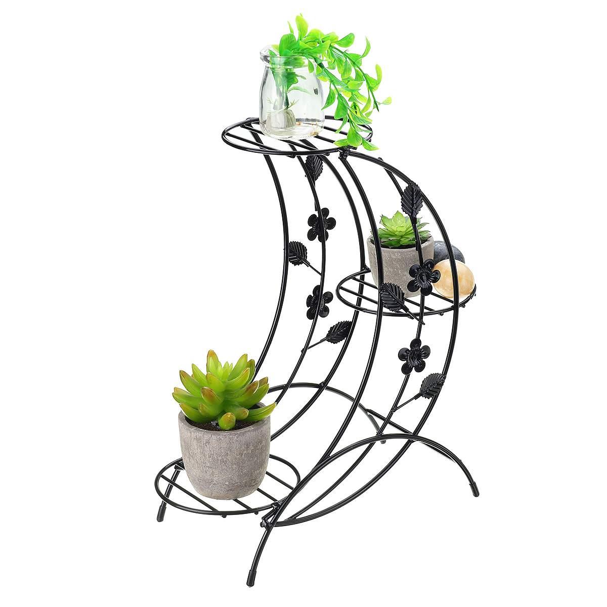 Multi-layer Plant Stand Succulent Shelf Household Wrought Iron Rack Balcony Simple Indoor Coffee Bar Garden Flower Pot Shelf