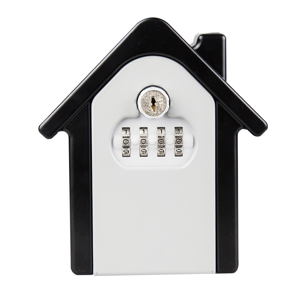 Key Lock Box With Waterproof Case Wall Mount Metal Password Box For Home Business  EM88
