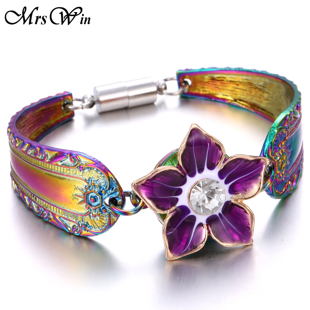 2019 New Colorful Magnetic Snap Bracelet Bangle Fit 20MM 18MM  Snap Buttons Jewelry Metal Silver Snap Button Bracelet For Women