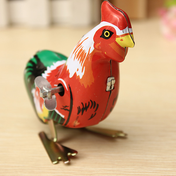 NEW Vintage Metal Wind-up Jumping for Frog/Cock Model Clockwork Tin Toys Collectible Classic Education Toys Gift For Children