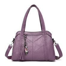 Torebka z frędzlami dla kobiet torby z uchwytami dla kobiet moda damska torby na ramię kurierskie tanie tanio Tornistry Na ramię i torebki CN (pochodzenie) zipper Poliester Versatile WOMEN Stałe