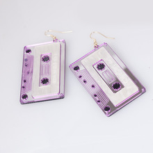 New Fashion Acrylic Tape Earrings For Women Girl Personality Geometric Drop Exaggerated Night Club Party Earing Jewelry