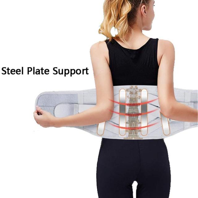 Lower Back Support For Men And Women Neoprene Waist Support Gym Waist Protector Fitness Lumbar Sweat Belt Sport Accessories