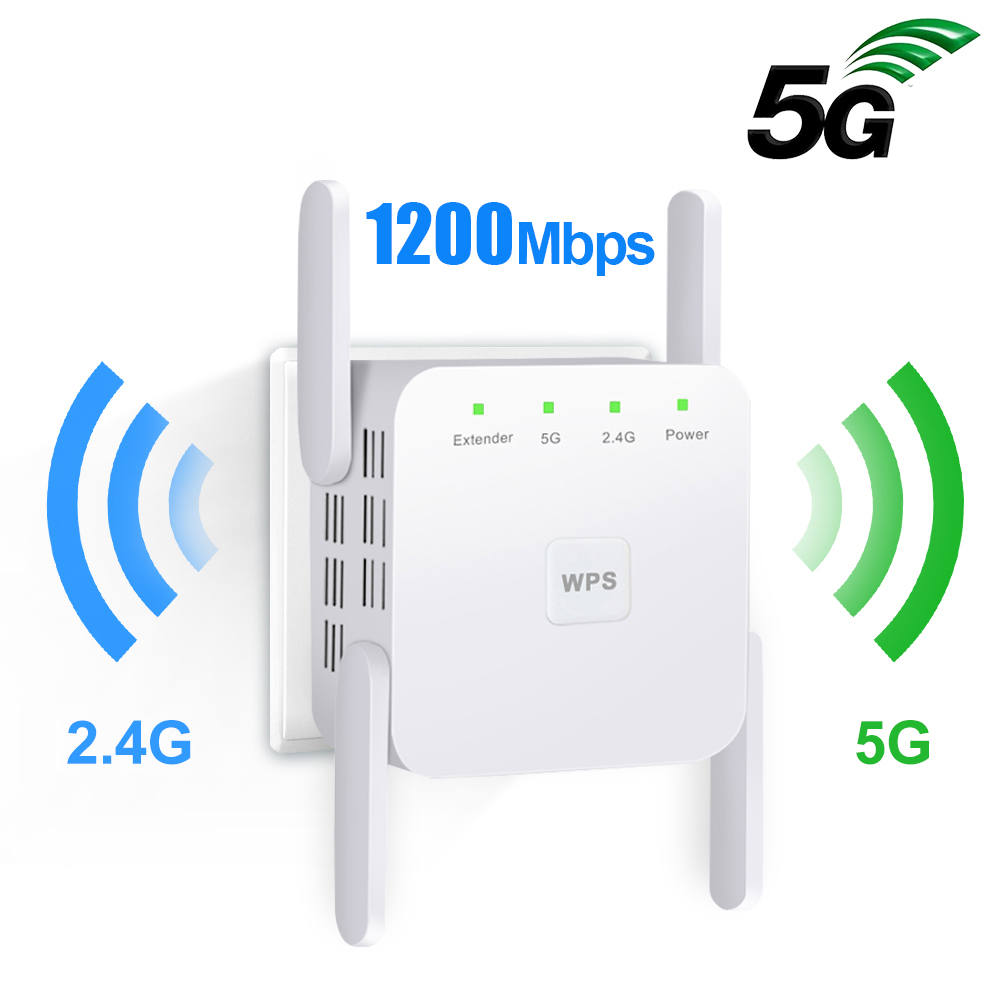5G Wifi Repeater Wifi Extender 5Ghz Wi-fi Signal Amplifier 300/1200Mbps Wi Fi Ultraboost 2.4G Wireless Long Range Wifi Booster