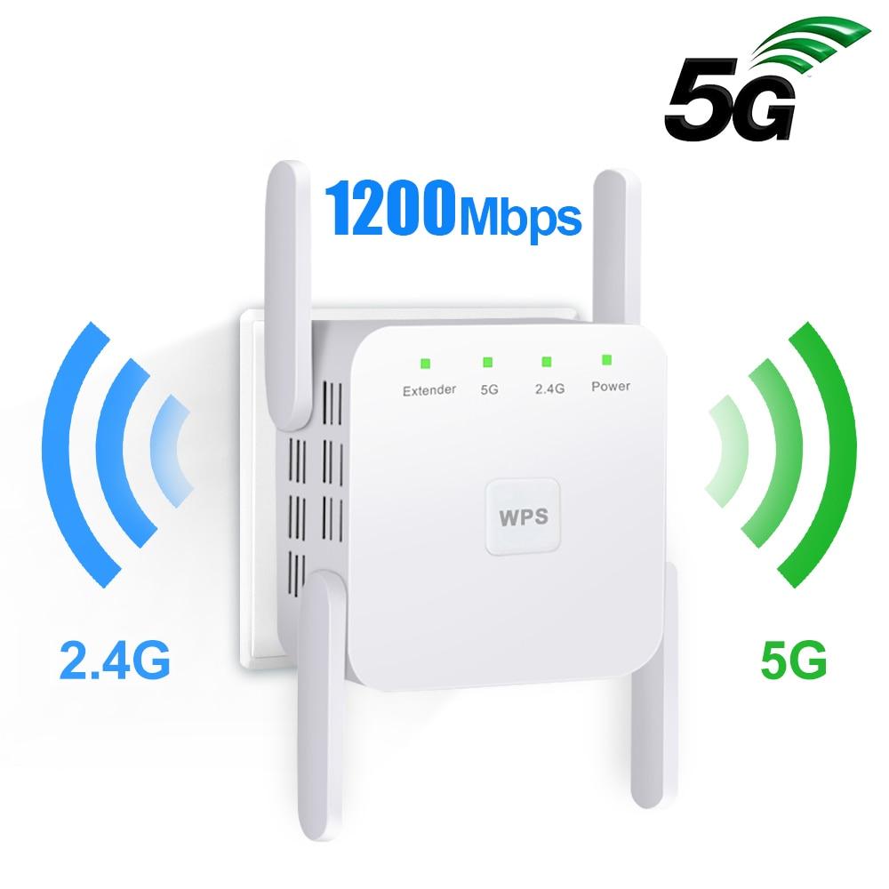 5G Wifi Repeater Wifi Extender 5Ghz Wi-fi Signal Amplifier 300/1200Mbps Wi Fi Ultraboost 2.4G Wireless Long Range Wifi Booster