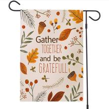 Halloween Thanksgiving 12*18 Inch/30*45cm Garden Flag Vertical Double Sized Decorative  for Outdoor Home Lawn Yard