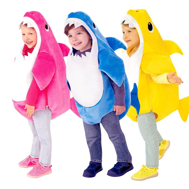 Disfraz de Halloween de 3 colores, Unisex, niños pequeños, familia, tiburón