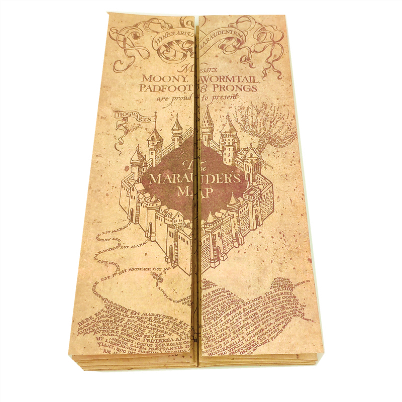 Marauder Map Magician School Ticket Students Harassed Collection Gifts Fans Party
