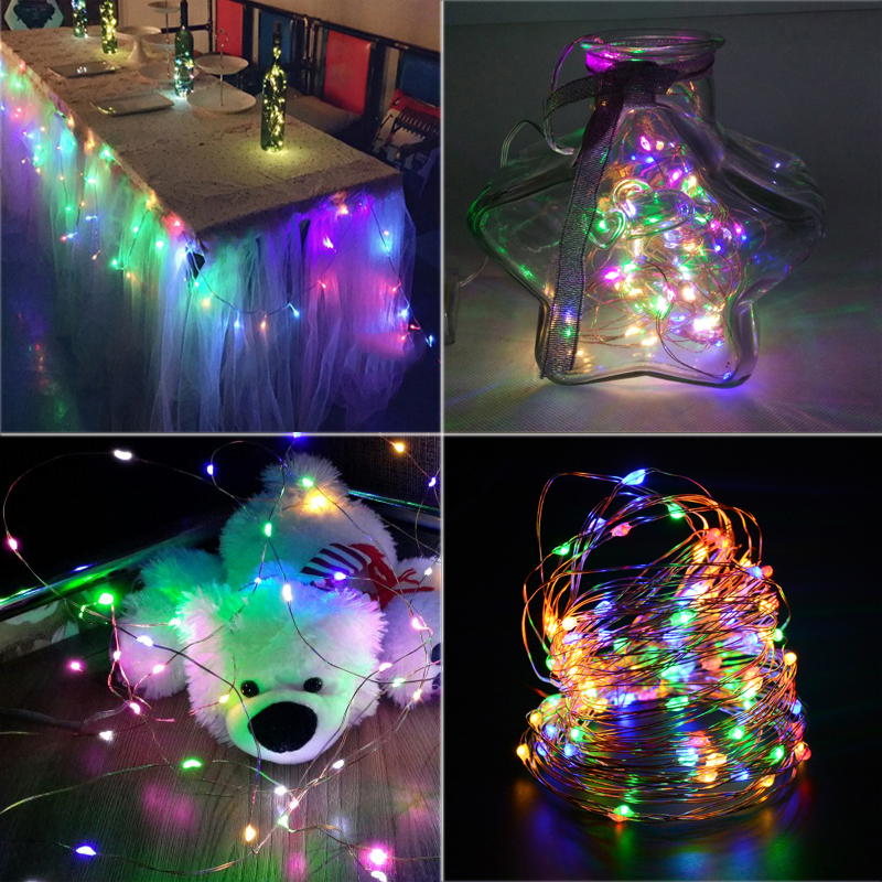 2//3//5M String Fairy Light 20 LED Battery Operated Xmas Party Wedding Lamp RK