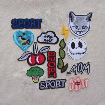 16Pcs high quality cartoon patter Embroidered Patches For Clothes Iron On Applique Patch Badge For Clothing Accessories image
