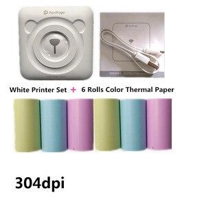 Image 5 - HQ 304dpi bezatramentowa przenośna drukarka fotograficzna Bluetooth Peripage Mini drukarka termiczna papier samoprzylepny Termalni Fototiskarna