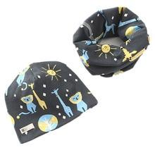 Hat Scarf-Set Girls Baby Boys Winter Children Plush Warm Autumn Cotton Head-Cover Neck-Collar