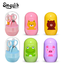 4pcs Baby Nail Care Set Baby Healthcare Kits Infant Finger Trimmer Scissors Nail Clippers Cartoon Animal Storage Box for Travel cheap CN(Origin) 7-12m 13-24m 25-36m C1000327 Babies Clipper Trimmer pp+tpe+stainless steel
