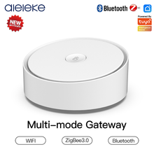 Aleleke Multi-Mode Smart Gateway ZigBee WiFi Bluetooth Mesh Hub Work with Tuya App Control 200 Device Support Alexa Google Home