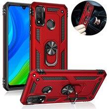 Armor Case For Huawei P Smart 2020 2021 P30 Pro P20 P40 Lite E Y9 Prime 2019 Nova 5T Y8 S Y7P Y6P Y5P Y8P Car Magnet Ring Cover