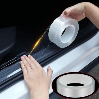 Uniwersalny niewidoczny samochód naklejki taśma listwa progowa wielofunkcyjna Nano taśma do naklejania zderzak samochodowy odporny na zarysowania pasek tanie i dobre opinie Metalworking Anti-collision Scotch Tape Taśma elektryczna Glue Sticker Tape Transparent Car Stickers Adhesive Nano Tape