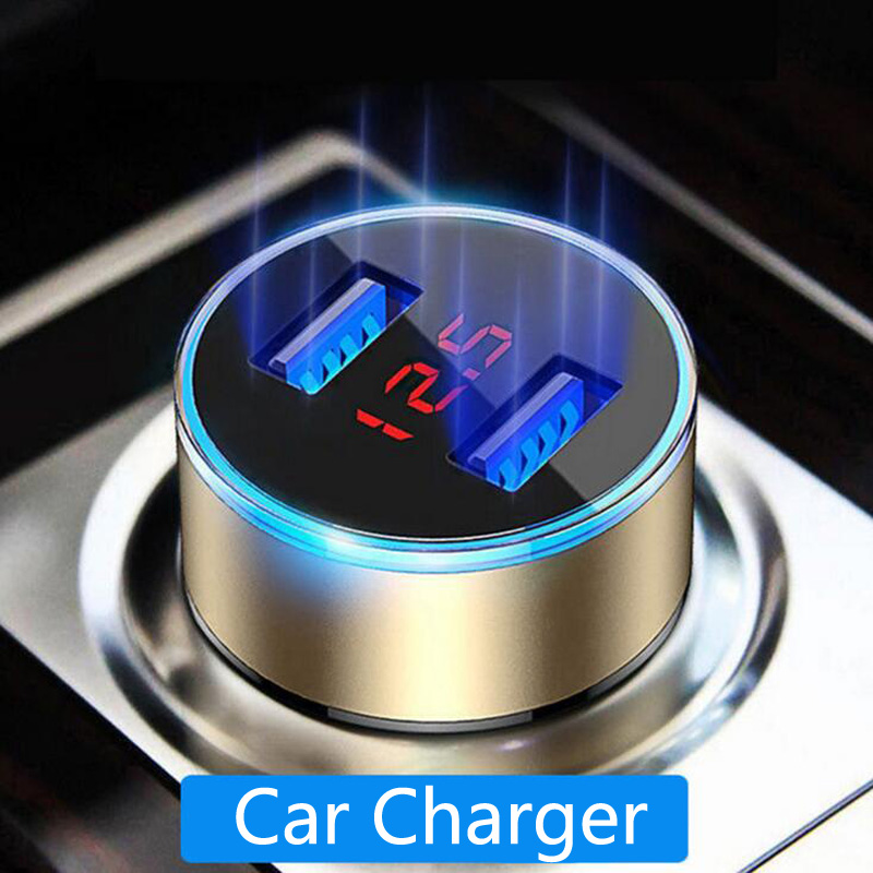 3.1A Dual <font><b>USB</b></font> Cigarette Lighter Fast Car <font><b>Charger</b></font> Power Adapter For Volkswagen Polo Passat B6 <font><b>BMW</b></font> F10 F30 E60 Ford Fiesta Focus 2 image