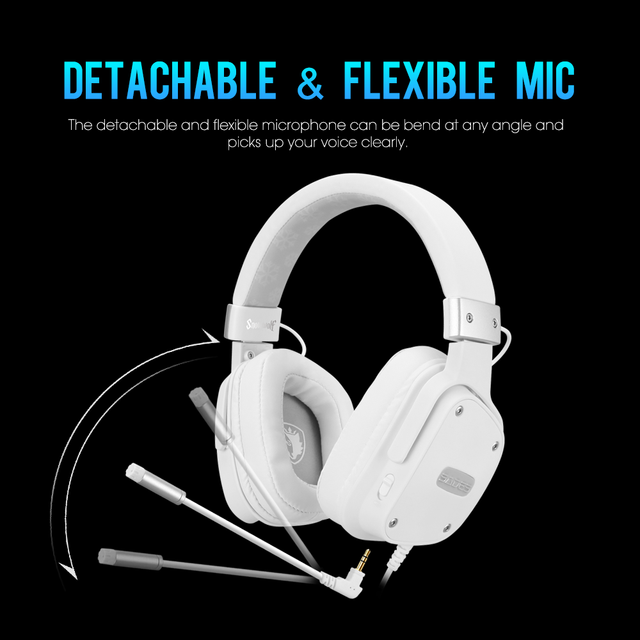 SADES Gaming Headset Snowolf 3.5mm Jack For PC/laptop/PS4/Xbox One (2015 Version)/Nintendo Switch/VR/Mobile 3
