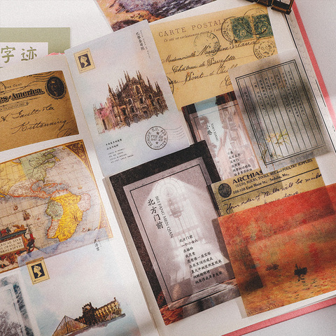 20 set lote kawaii papelaria adesivos serie retro diario planejador decorativo movel adesivos scrapbooking diy