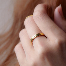 HIYONG Engraved Personalized Ring Gold Wedding Jewelry With Name Silver Custom Accessories for Women Best Lovers Gifts
